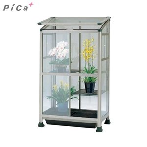 ピカコーポレーション 屋外屋内両用ガラス温室 ライトブロンズ (保湿カバー付き)|minatodenki