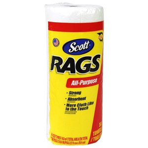 SCOTT Rags ホワイトロール 55カット 65800 0054000752308 [油 ウエ...