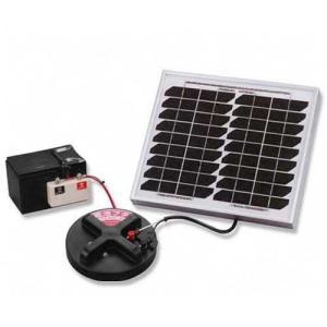 末松電子 電源機器 814 10Wソーラーパックセット [ゲッターシステム用 電気柵 電柵 電気牧柵]|minatodenki
