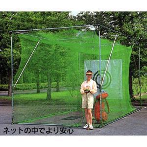 ゴルフネット GN-3060 大型据え置きタイプ (練習用ボール12個付き) [南栄工業 ナンエイ ゴルフ用品]|minatodenki