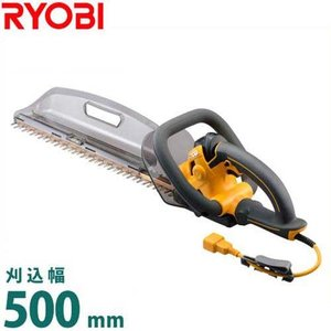 リョービ ヘッジトリマー HT-5040 (超高級刃タイプ/刈込幅500mm) [RYOBI 電動トリマー 電気バリカン]|minatodenki