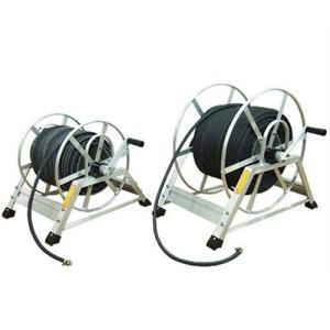 軽量アルミ高圧ホースリール+クラレ高圧ホース50m付きセット [巻取り機] minatodenki