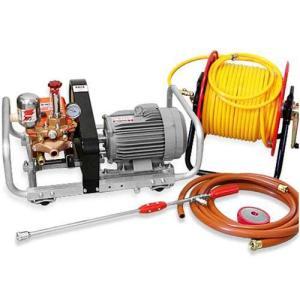 【取扱終了】カーツ モーター式セット動噴 SAM4011M (三相200V2.2kw) 《50mホースリール+鉄砲噴口付き》 [噴霧器 噴霧機]|minatodenki