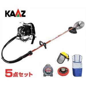 カーツ 草刈り機 エンジン式 XRP335+ナイロンカッター付きセット (背負式) [草刈機 刈払機 刈払い機]|minatodenki