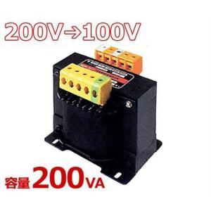 スワロー 複巻きダウントランス M21-200E (200V⇒100V/容量200VA/単体型) [変圧器 降圧トランス]|minatodenki