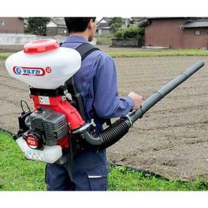 マルナカ 動力散布機 かるっと背負動散 MEM4022 (容量22L) [エンジン式 背負式 動散 動力散布機 散粒機 肥料散布機 肥料散布器]|minatodenki