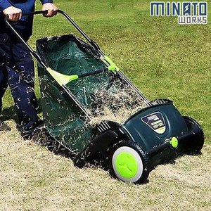 ミナト 芝生用 手押し式スイーパー SWP-530A [掃除機 芝用 落ち葉 芝刈り機 芝刈り用品 芝刈機]|minatodenki