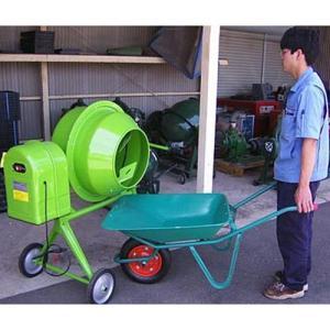 ナカトミ コンクリートミキサー 2切 MIX-500 (100Vモーター+車輪付)|minatodenki