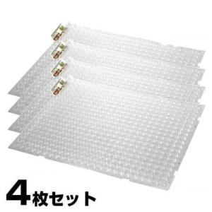 ネコよけ対策マット 『ここダメシート・透明』 4枚セット (W420×L335mm)|minatodenki