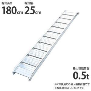 シンセイ アルミブリッジ 180-25-0.5t 1本 (荷重0.25t/全長182cm/幅25cm) [道板 ラダーレール スロープ トラック]|minatodenki