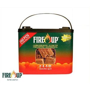 ファイヤーアップ 着火剤 100個入 541142A [FIRE-UP 薪 炭 着火 バーベキュー 燃料 固形]|minatodenki