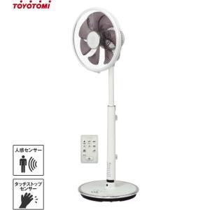 トヨトミ 温度+人感センサー付き 高性能型 扇風機 FS-DS30IHR(W) (ホワイト/リモコン付き) [TOYOTOMI 循環扇]|minatodenki