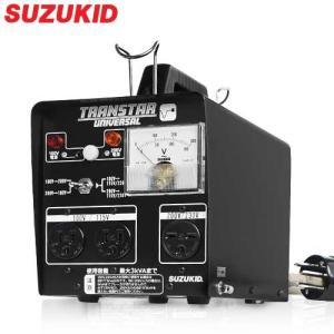 スズキッド 海外機器対応 変圧器 トランスターユニバーサル STU-312 (3KVA/100V・200V兼用) [スター電器 SUZUKID]|minatodenki