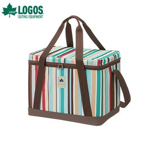 ロゴス(LOGOS) LOGOS デザインクーラー35(ブルーストライプ) 81670695 [クーラーボックス 保冷剤 ソフトクーラーボックス]|minatodenki