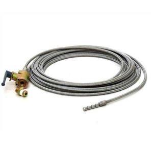 洗管ノズル付きSUSブレードホース10m ボールバルブセット (高圧洗浄機PMR100/PMR150HSD用)|minatodenki
