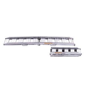 昭和ブリッジ アルミブリッジ 2本組セット NSBW-240-30-0.8 (240cm/幅30cm/荷重0.8t/折りたたみ式/ツメ)|minatodenki