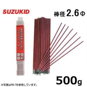 スズキッド 低電圧用 溶接棒 PB-09 2.6Φ×500g [スターロードB-1 スター電器 SUZUKID 溶接機]|minatodenki