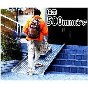 ミスギ 段差解消スロープ RB500 (長いスロープ用・段差500mmまで) minatodenki