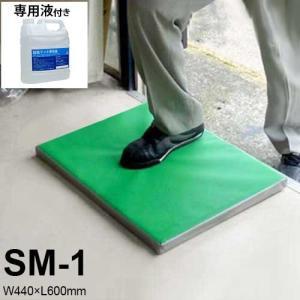 除菌・消毒マット SM-1 専用液4L付きセット (W440×L600mm) [南栄工業 ナンエイ]|minatodenki