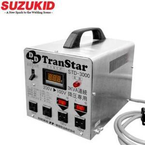 スズキッド ダウントランス トランスター STD-3000 (ステンレス仕様/デジタル表示) [スター電器 SUZUKID 変圧器 降圧トランス]|minatodenki