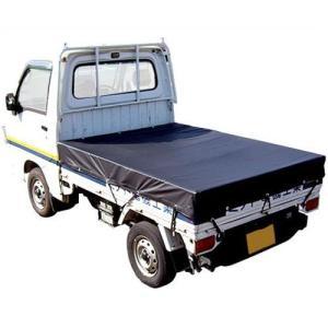軽トラック用 荷台シート ブラック (ゴムバンド付き) [トラックシート 黒]|minatodenki