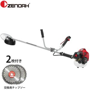 ゼノア エンジン草刈り機 TRZ265W 《交換用チップソー2枚付きセット》 (25.4cc/両手ハンドル) [草刈機 刈払機]|minatodenki