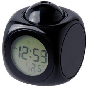 ファボリスタ 音声読み上げ & プロジェクター 表示 マルチ クロック 置き時計 ブラック 48142 minatojapan-y02