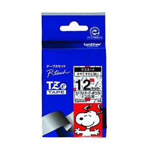 ブラザー工業 TZeテープ スヌーピーテープ(スヌーピーホワイト/黒字) 12mm TZe-SW31|minatojapan-y02