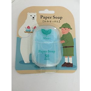 ペーパーソープ(かみせっけん) ミントの香り 新商品|minatojapan-y02