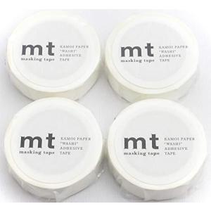カモ井加工紙 マスキングテープ mt マットホワイト(MT01P208:幅15mm 長さ10m)× 4個|minatojapan-y02