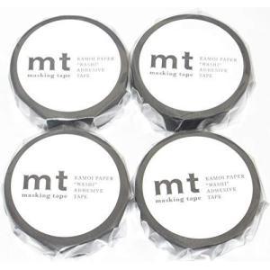 カモ井加工紙 マスキングテープ mt マットブラック(MT01P207:幅15mm 長さ10m)× 4個|minatojapan-y02