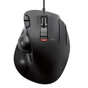 エレコム 有線マウス トラックボール 6ボタン ブラック M-XT3URBK|minatojapan-y02