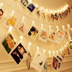 Cshare 写真飾りライト LED ストリングスライト 3M 30LED 写真クリップ DIY壁飾り LEDイルミネーションライト ピクチャーフレーム ジュエリーライト ワイヤーラ minatojapan-y02