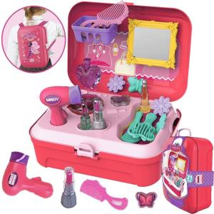 おままごと お化粧 ごっこ遊び メイクセット メイクアップ お化粧おもちゃ メイクおもちゃ 女の子 プリンセス ドレッサー ボックス|minatojapan-y02