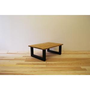 ローテーブル センターテーブル リビングテーブル 無垢 無垢材 北欧 木製 おしゃれ ソファ―テーブル アイアンレッグ 日本製 スノコ仕様 ブラウ 900幅 minatojimarocket