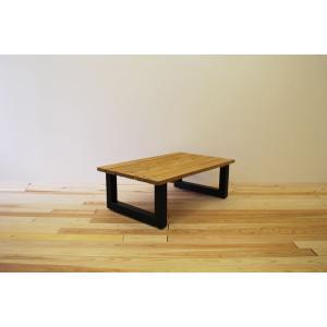 ローテーブル センターテーブル リビングテーブル 無垢 無垢材 おしゃれ 北欧 木製 スノコ仕様 ソファテーブル アイアンレッグ ナチュラル ブラウ 1000幅 minatojimarocket