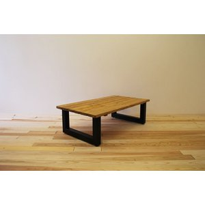 ローテーブル センターテーブル リビングテーブル 無垢 無垢材 おしゃれ 北欧 木製 スノコ仕様 ソファテーブル アイアンレッグ ナチュラル ブラウ 1100幅 minatojimarocket
