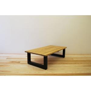 ローテーブル センターテーブル リビングテーブル 無垢 無垢材 おしゃれ 北欧 木製 スノコ仕様 ソファテーブル アイアンレッグ ナチュラル ブラウ 1200幅 minatojimarocket