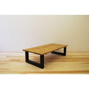 ローテーブル センターテーブル リビングテーブル 無垢 無垢材 おしゃれ 北欧 木製 スノコ仕様 ソファテーブル アイアンレッグ ナチュラル ブラウ 1300幅 minatojimarocket