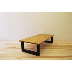 ローテーブル センターテーブル リビングテーブル 無垢 無垢材 おしゃれ 北欧 木製 スノコ仕様 ソファテーブル アイアンレッグ ナチュラル ブラウ 1400幅 minatojimarocket
