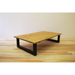 ローテーブル センターテーブル リビングテーブル おしゃれ 大きい 無垢 無垢材 北欧 木製 スノコ仕様 ソファテーブル アイアンレッグ ブラウ 1400幅 ワイド minatojimarocket