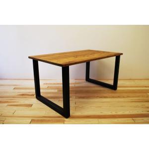 モノリス ダイニングテーブル W1400 【1枚板仕様】アイアン2レッグ W1400 D800 H700の写真