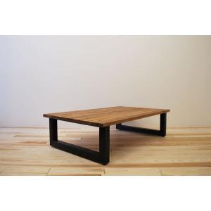 ローテーブル センターテーブル リビングテーブル 大きい 無垢 無垢材 北欧 木製 おしゃれ 一枚板仕様 ソファ テーブル アイアンレッグ モノリス 1300幅 ワイド minatojimarocket
