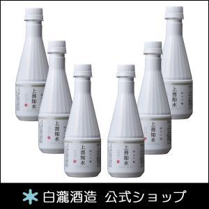 日本酒 白瀧酒造 上善如水 純米吟醸 ペットボトル 300ml×6本入り|minatoya