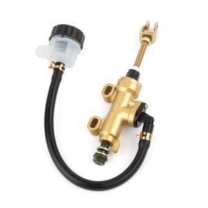 汎用品 油圧リア ブレーキ マスターシリンダー リア タンク 一体型 ゴールド (送料無料)ctr-...