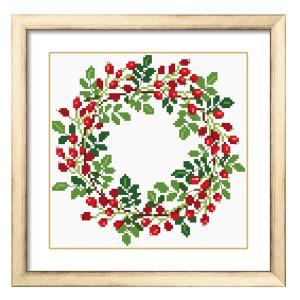 これ素敵っ クロスステッチ 刺繍 キット Flower Wreath L325 【送料無料】lvt-325