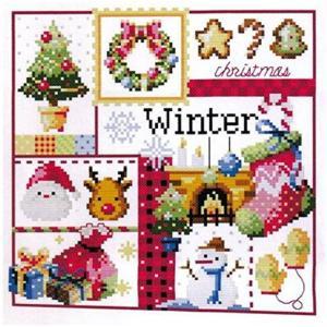 ・これ素敵っ クロスステッチ 刺繍 キット クリスマスC  L830              ・サ...