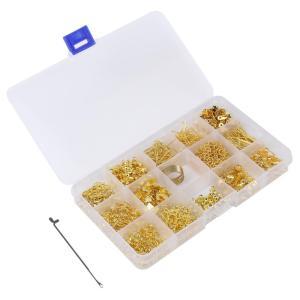 15種類 手芸用品 パーツ アクセサリー 材料 セット ゴールドラッシュ ハンドメイド 小物 手作り かぎ針 付 【送料無料】mmk-g86