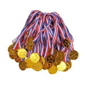 星 WINNER プラスチック 製 直径 3.8cm 金メダル 60個 セット スポーツ 大会 運動...