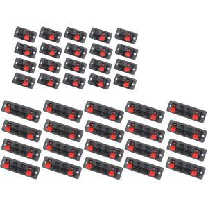 スピーカー ターミナル ボード 2ピン 20個 & 4ピン 20個 ステレオ 結線 端子 ステレオ ...